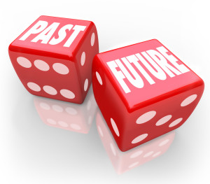 Past Vs Future Dice Today Tomrrow Comparison Betting Gamble